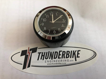 Stem Nut Motorcycle Clock