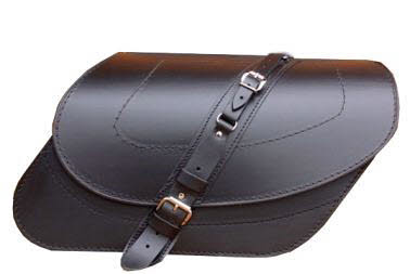 C105 Leather Saddlebag Angle