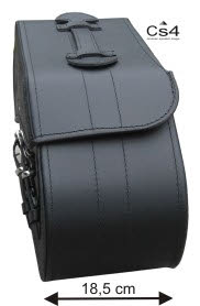 P47XL Leather Saddlebag Back Angle