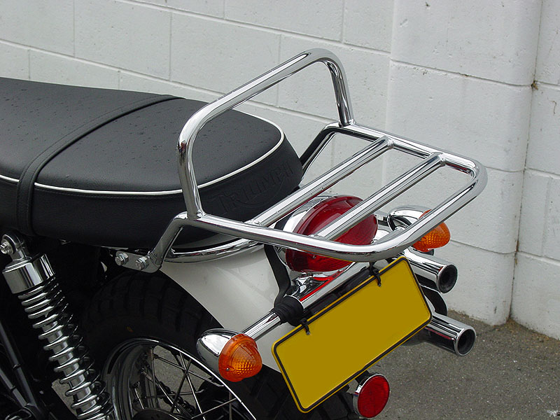Luggage Rack fitted to Scrambler