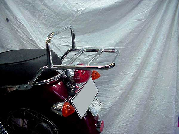 Luggage Rack fitted to Bonneville